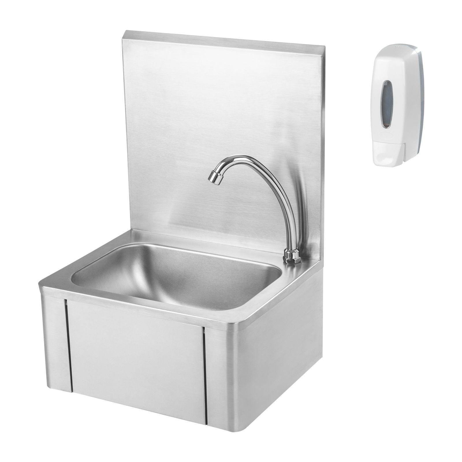 Waschbecken Edelstahl knie kontakt handwaschbecken spülbecken waschbecken edelstahl