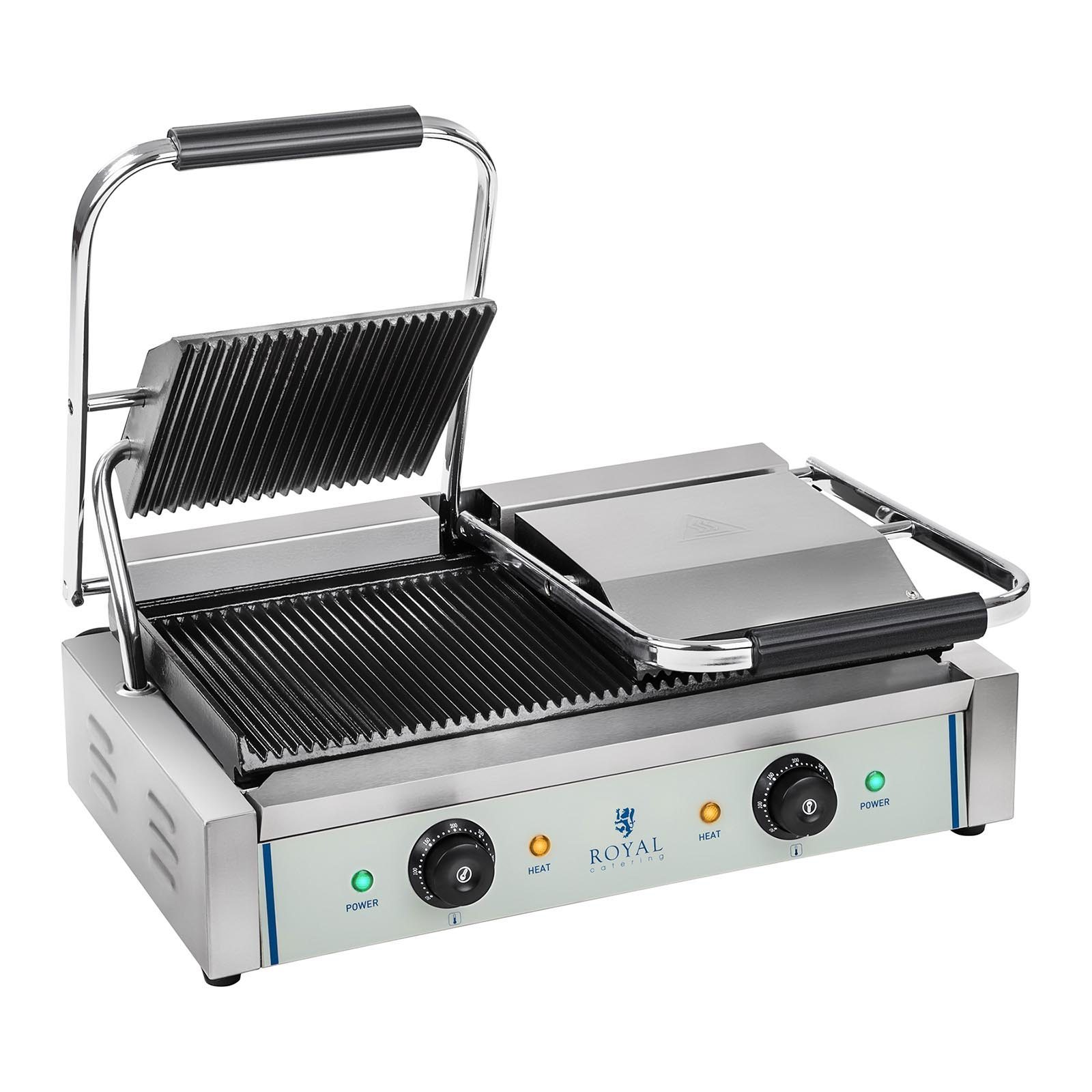 double panini machine contact grill toaster sandwich maker ribbed ribbed 2200w ebay. Black Bedroom Furniture Sets. Home Design Ideas
