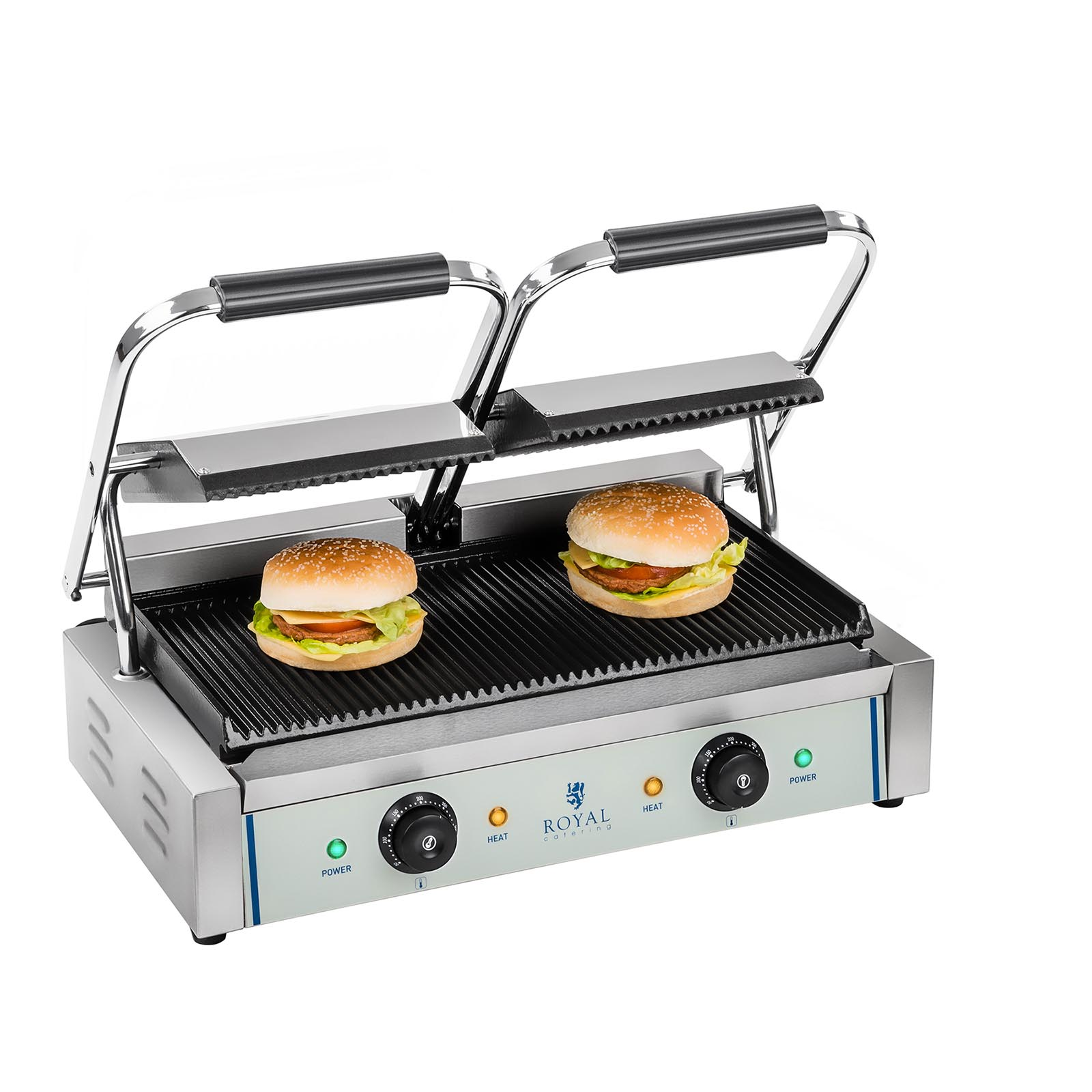 Double Panini Machine Contact Grill Toaster Sandwich Maker
