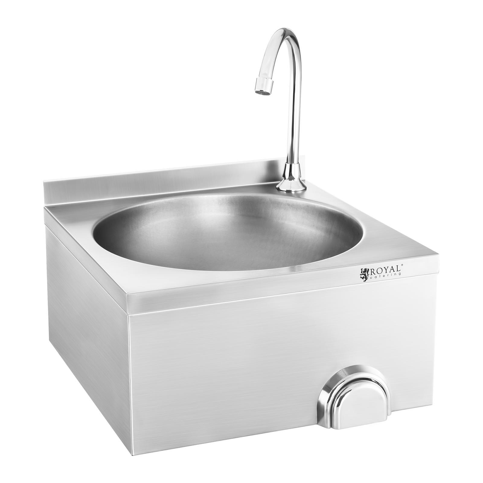profi waschbecken kniebedienung handwaschbecken. Black Bedroom Furniture Sets. Home Design Ideas