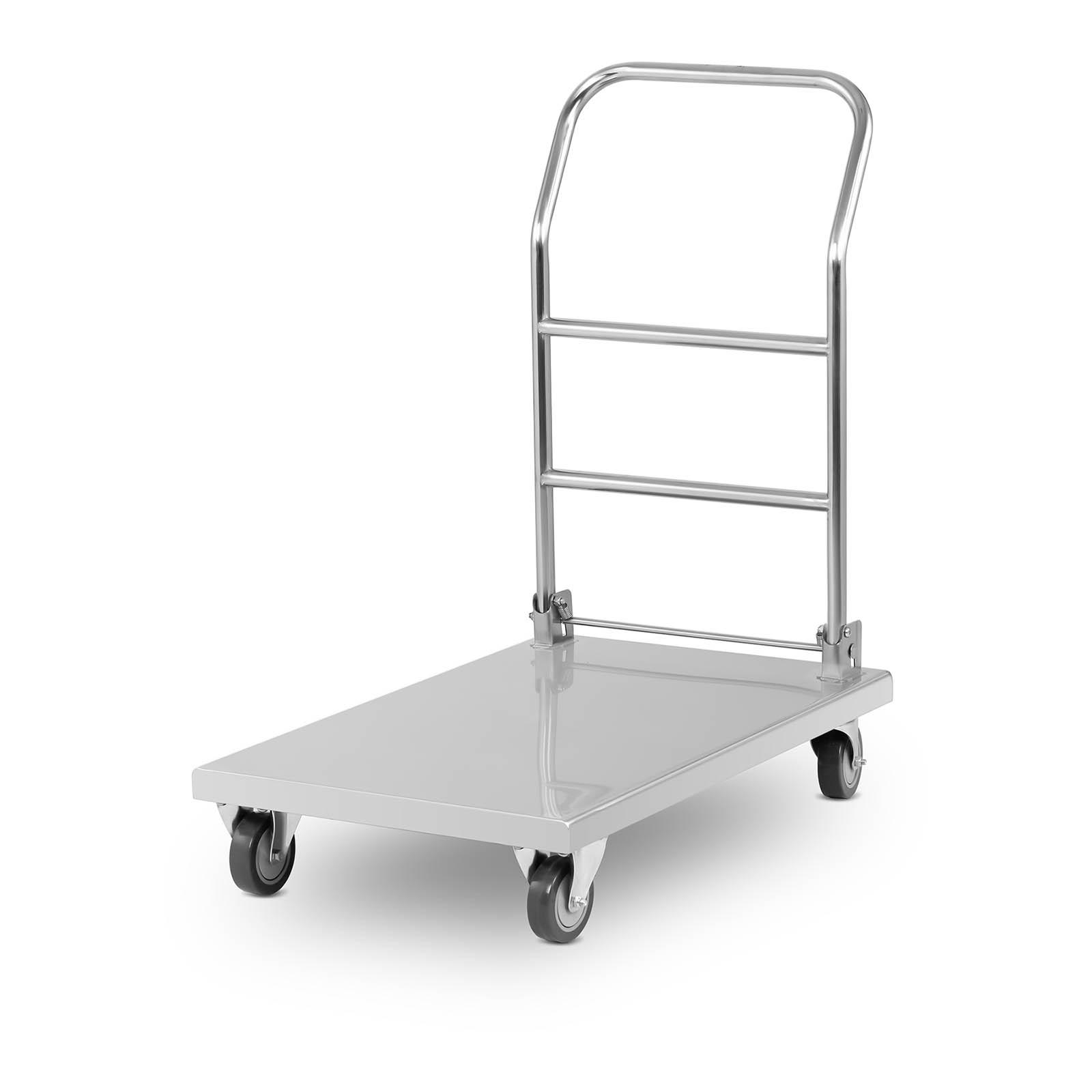 neu edelstahl transportwagen handwagen plattformwagen rollwagen klappwagen 330kg. Black Bedroom Furniture Sets. Home Design Ideas