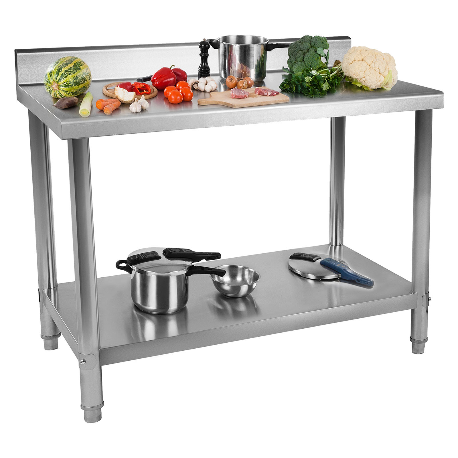 Industrial Kitchen Tables: Commercial Stainless Steel Catering Work Table Kitchen