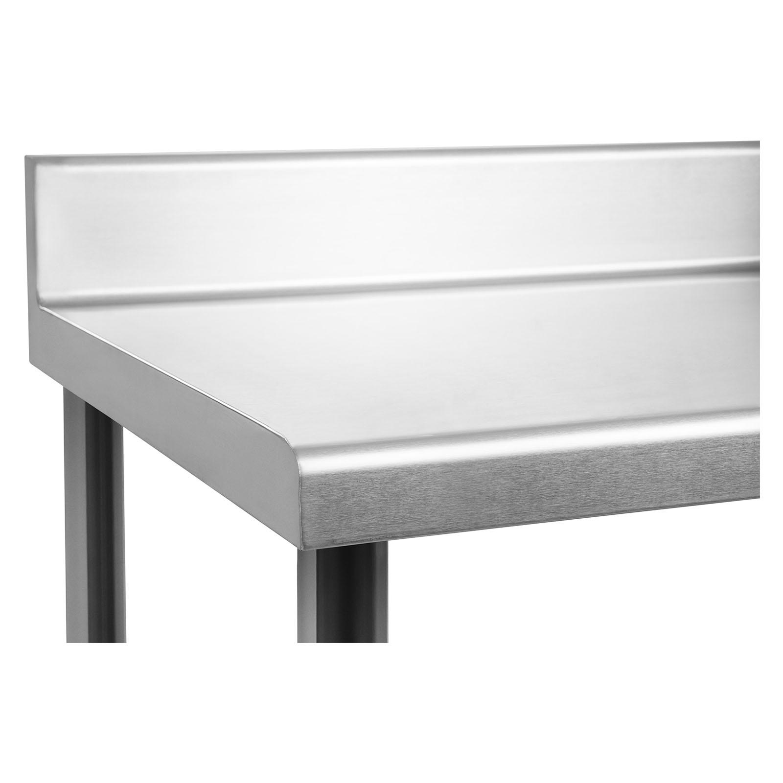 table de travail adossee plan de travail professionnel avec etagere inox 150x60 ebay. Black Bedroom Furniture Sets. Home Design Ideas