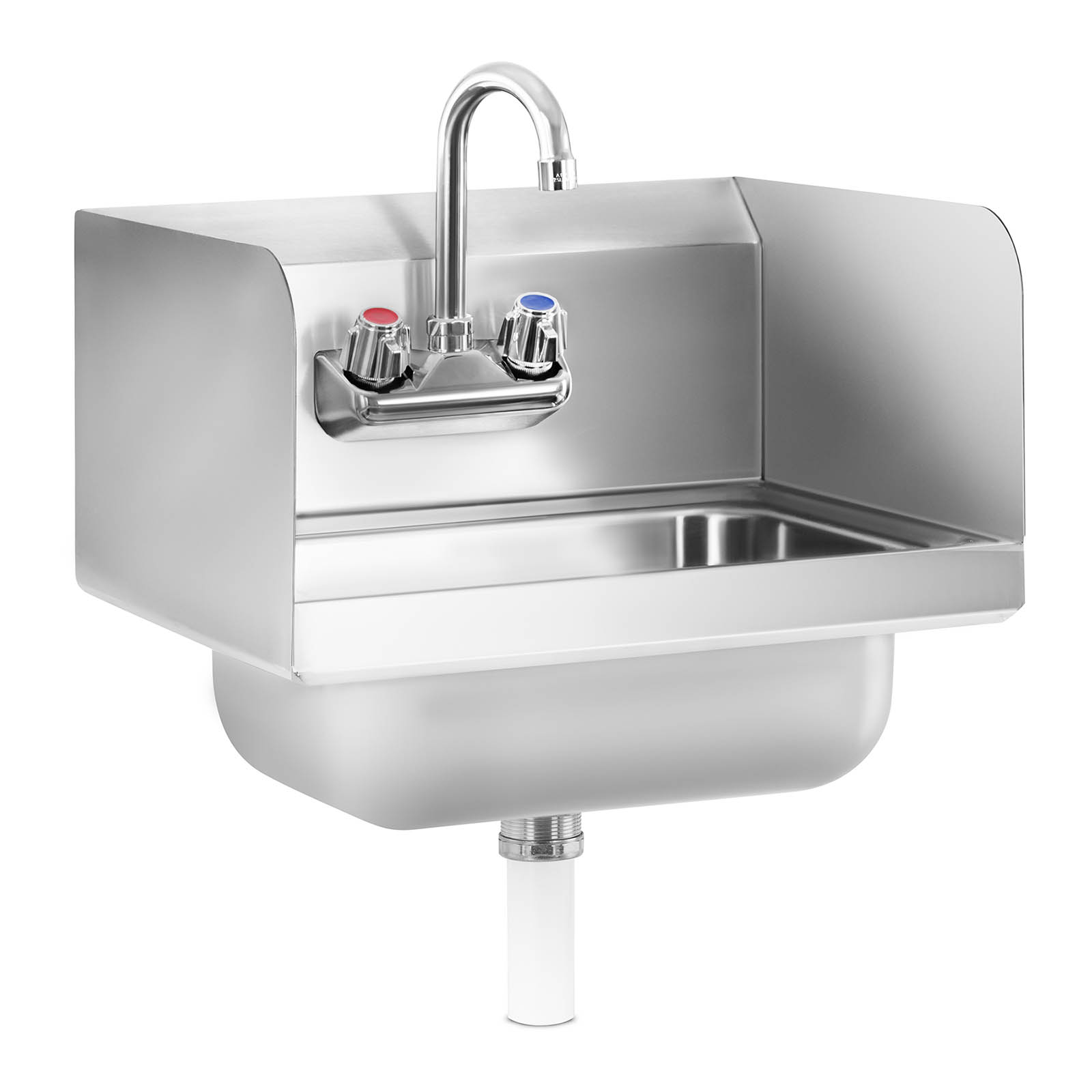 gastro handwaschbecken waschbecken edelstahl edelstahlsp le 3 seitige aufkantung ebay. Black Bedroom Furniture Sets. Home Design Ideas
