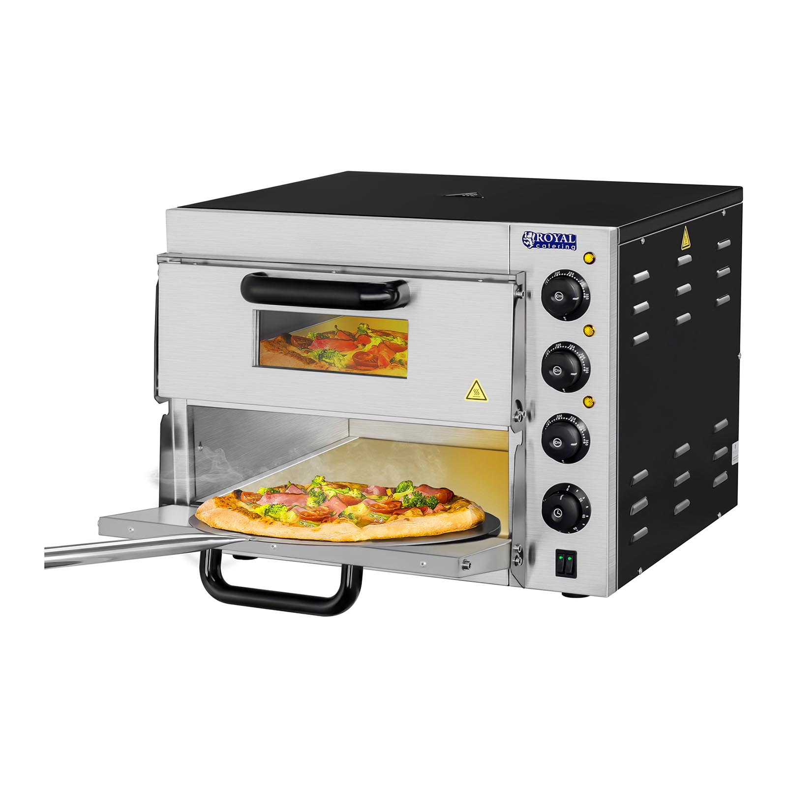 pizzaofen pizzabackofen pizza backofen flammkuchen flammkuchenbackofen gastro ebay. Black Bedroom Furniture Sets. Home Design Ideas