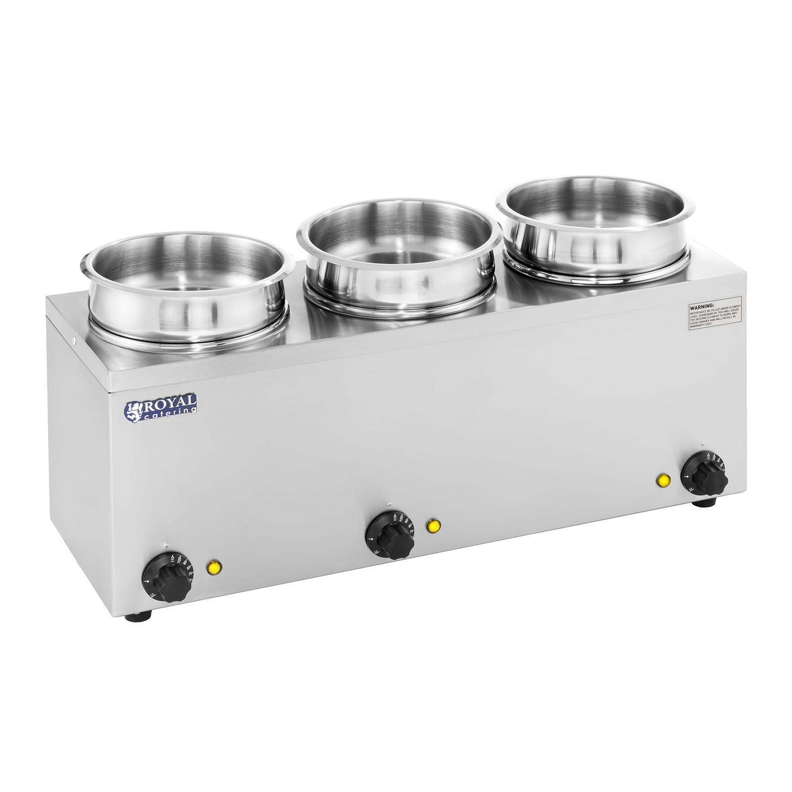 Commercial Buffet Soup Kettle Sauce Dispenser 3 X Pots