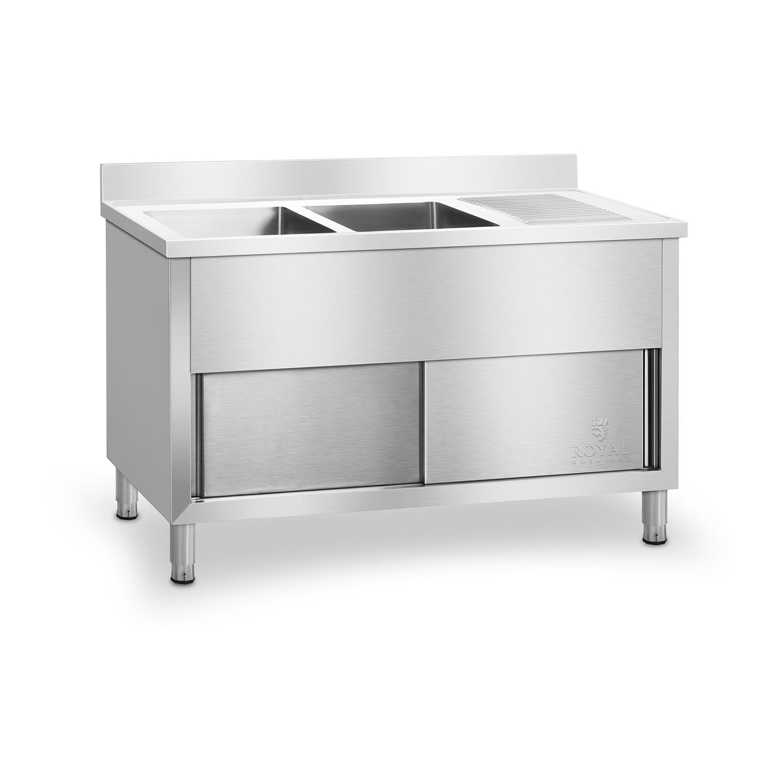 Fregadero doble con armario pila de cocina acero - Pilas de acero inoxidable ...