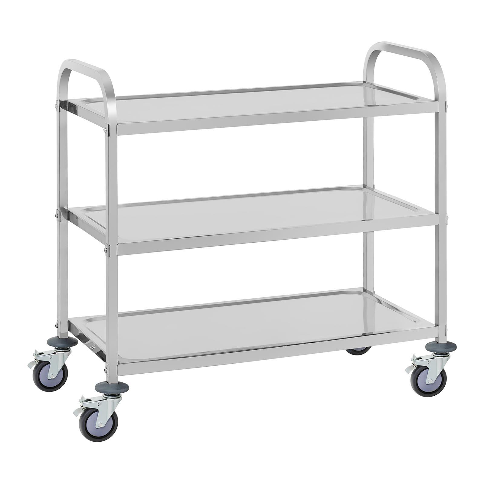 Serving trolley stainless steel kitchen trolley tea wagon for Tea trolley ikea