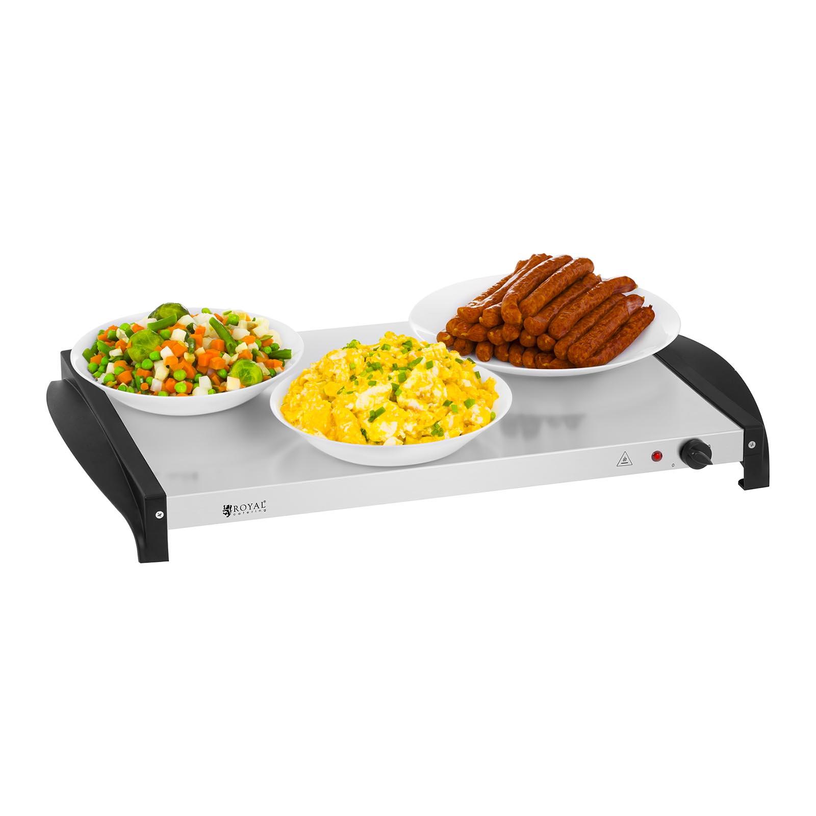 Royal Catering Chauffe-plat Pan Grand Buffet Aliments Plateau Inox 400W 3x2.5L