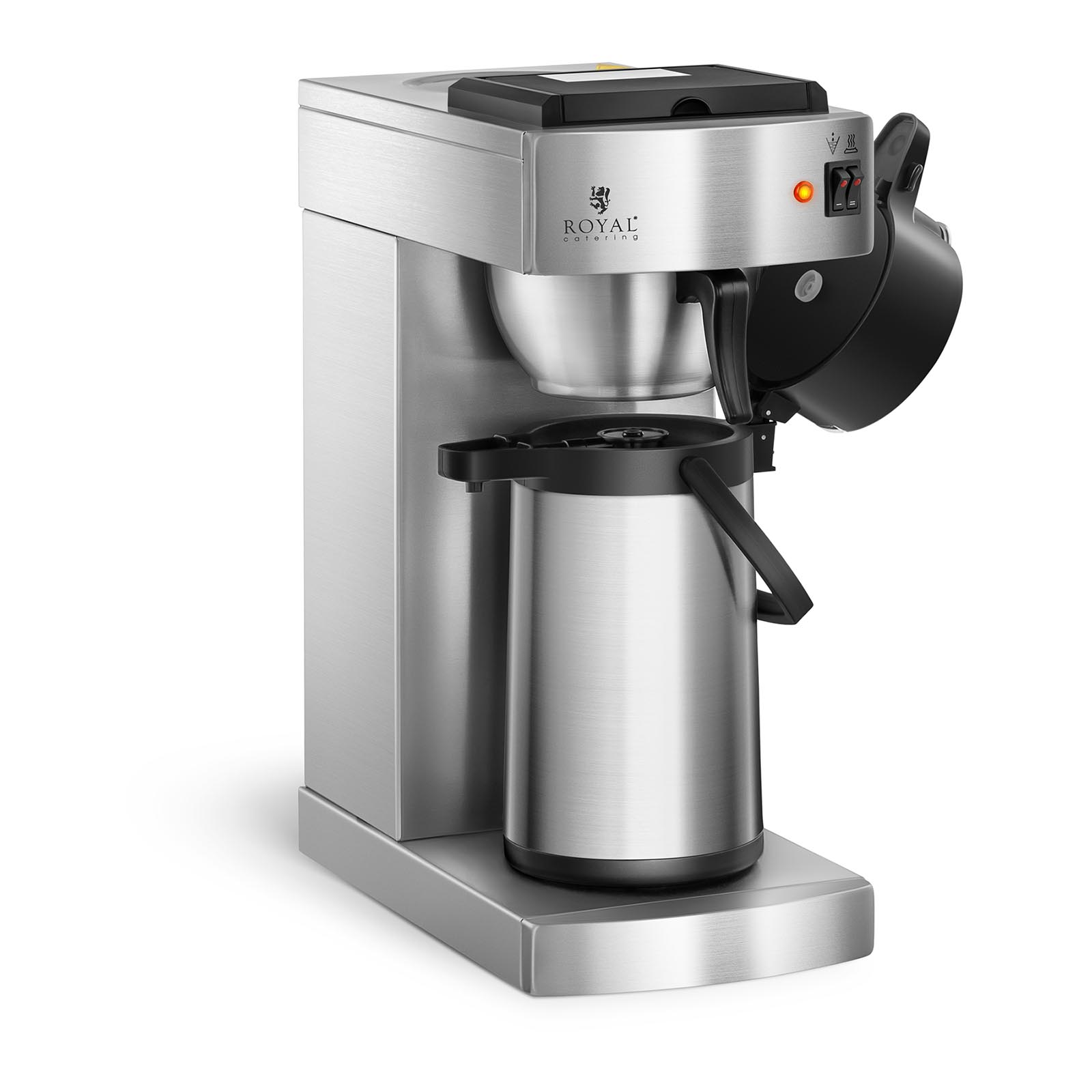 machine caf filtre professionnelle cafeti re filtre avec panier inox 2 2 l ebay. Black Bedroom Furniture Sets. Home Design Ideas