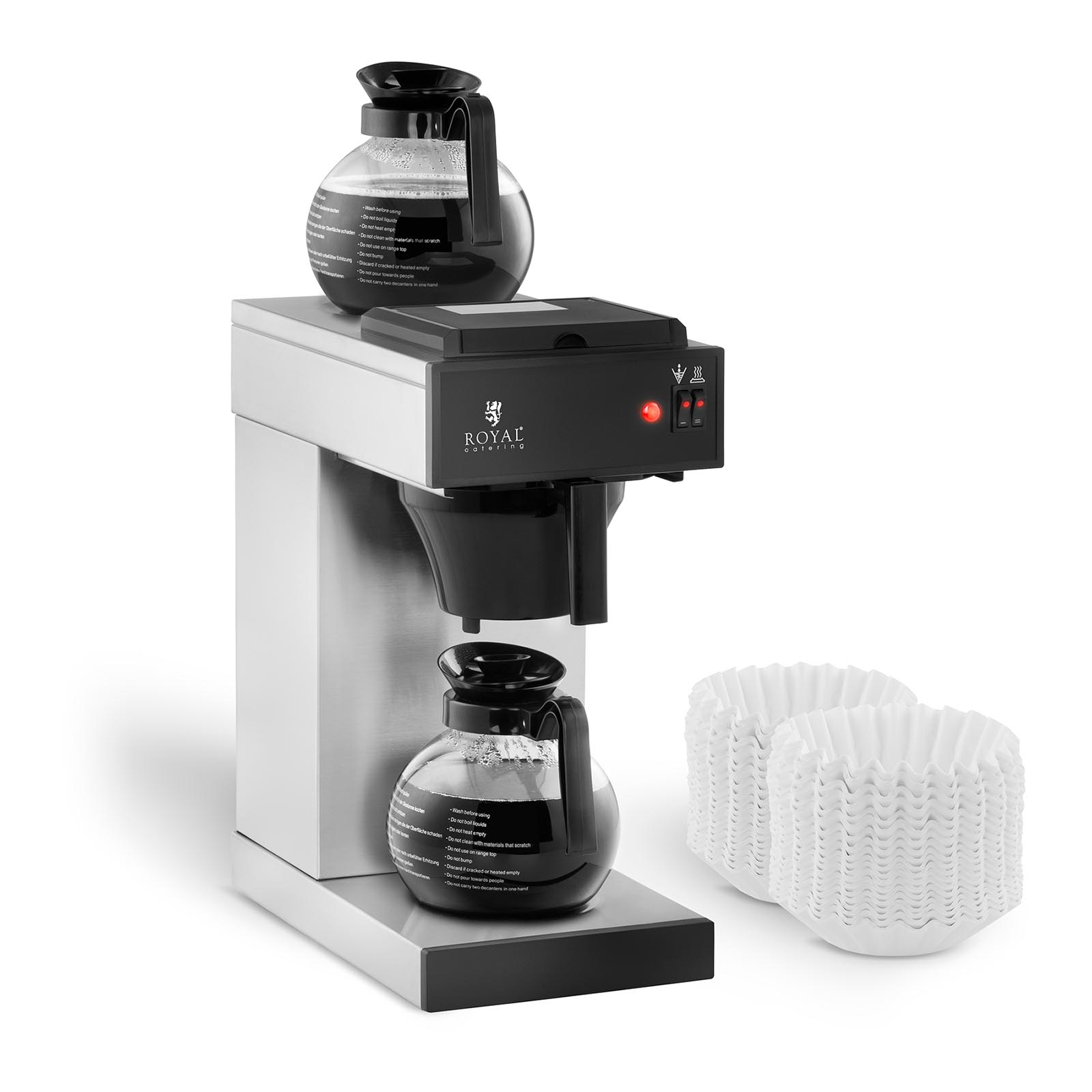 royal catering kaffeemaschine inkl 2 kaffeekannen 2x2 liter kaffeezubereiter ebay. Black Bedroom Furniture Sets. Home Design Ideas