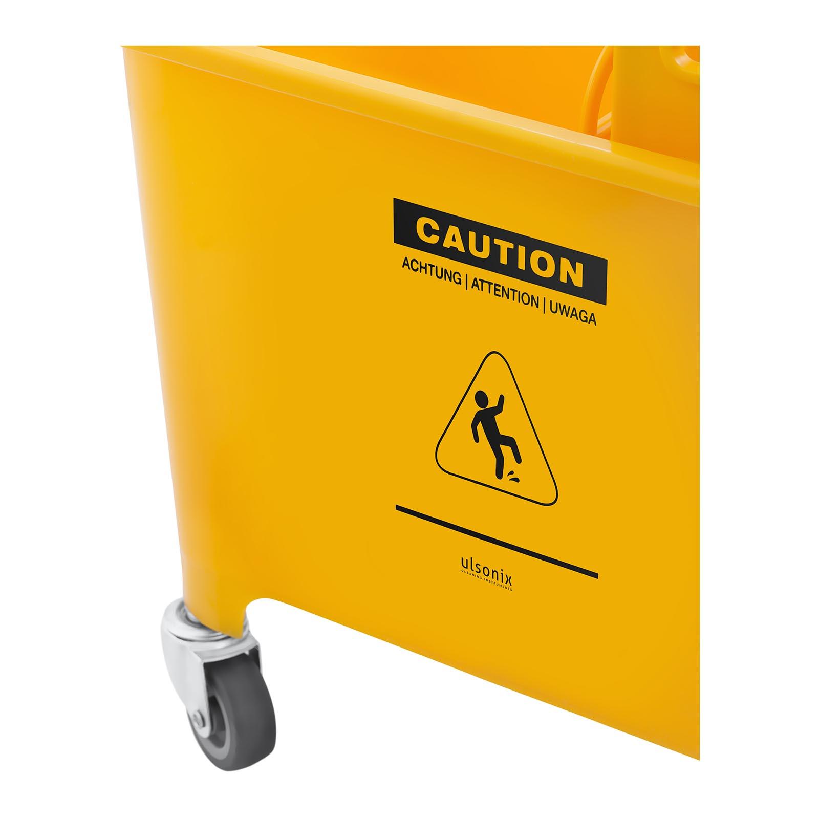 Secchio-Lavapavimenti-Con-Mocio-E-Strizzatore-Pulizia-Professionale-Cartello-20L miniatura 3
