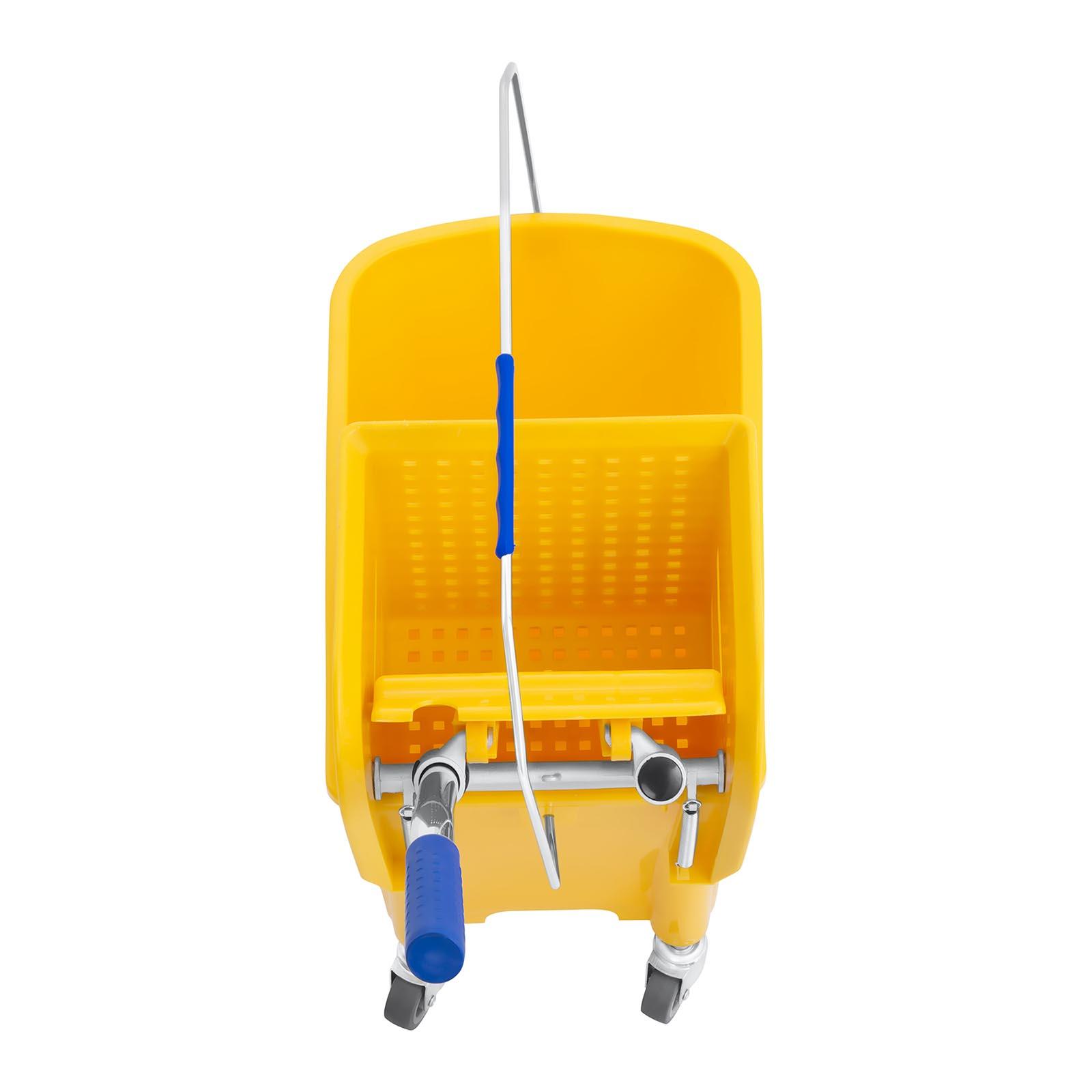 Secchio-Lavapavimenti-Con-Mocio-E-Strizzatore-Pulizia-Professionale-Cartello-20L miniatura 5