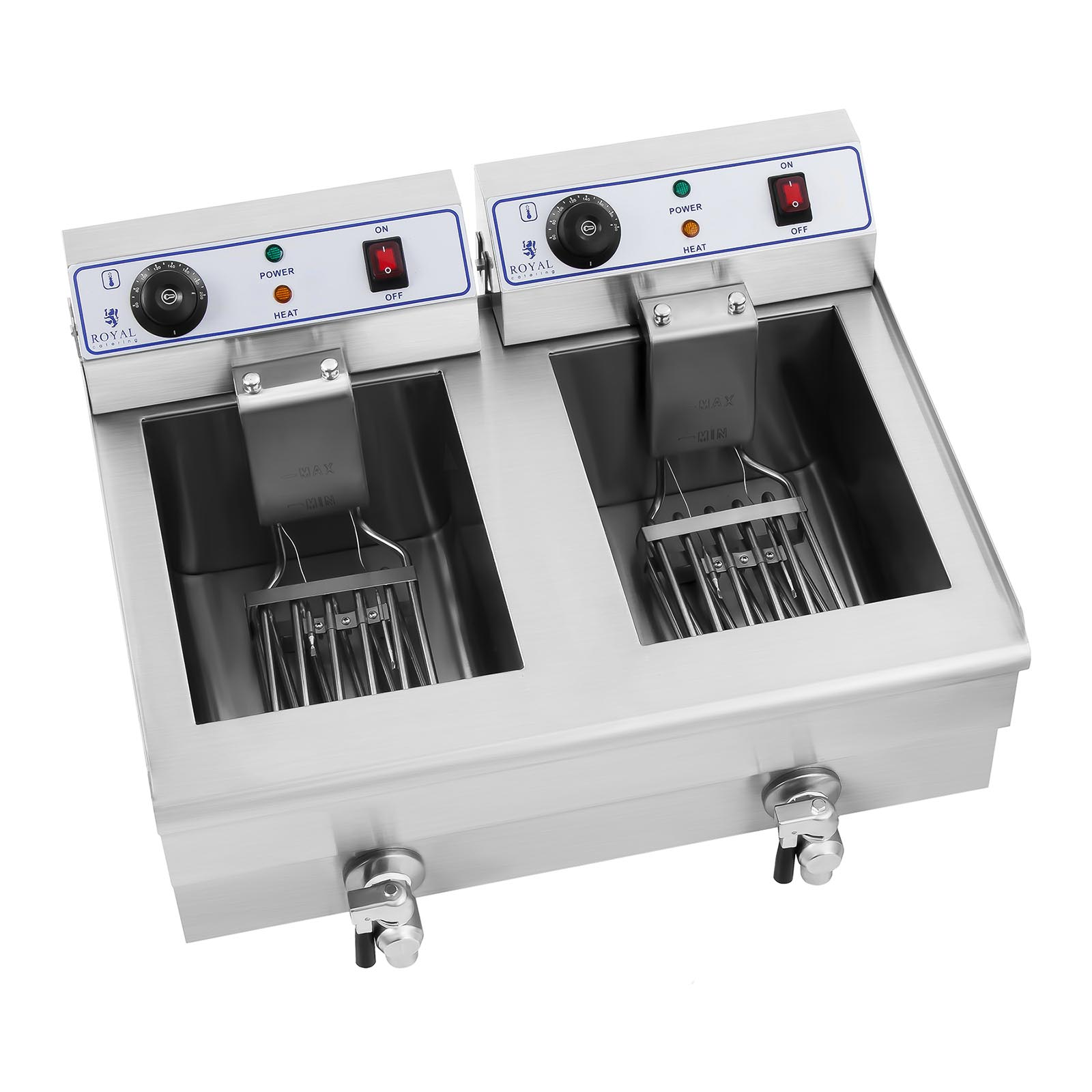 Stainless Steel Professional 2x10 L Litre Deep Fat Chip
