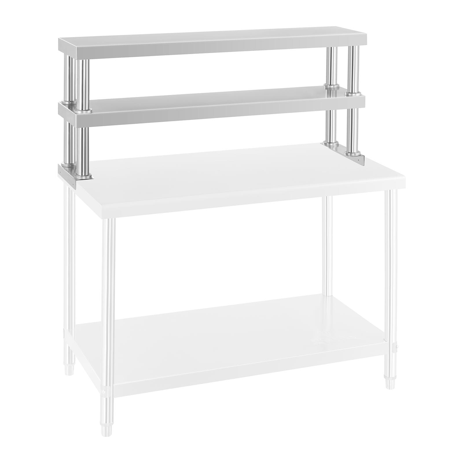 etagere d 39 appoint inox pour table de travail support pizza acier 120 cm 30 kg ebay. Black Bedroom Furniture Sets. Home Design Ideas