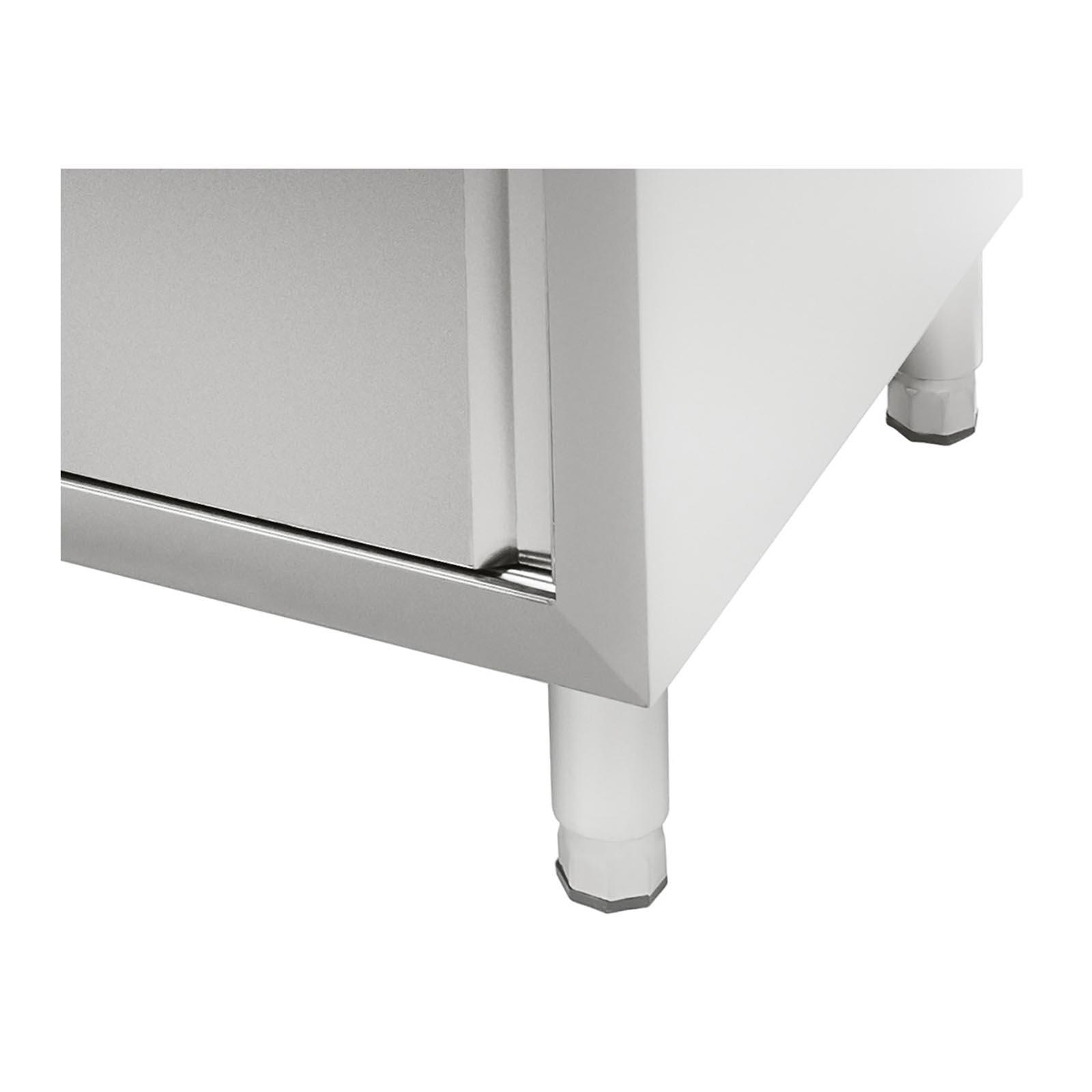 edelstahl doppel sp lschrank k chensp le edelstahlsp ltisch sp le schiebet ren ebay. Black Bedroom Furniture Sets. Home Design Ideas