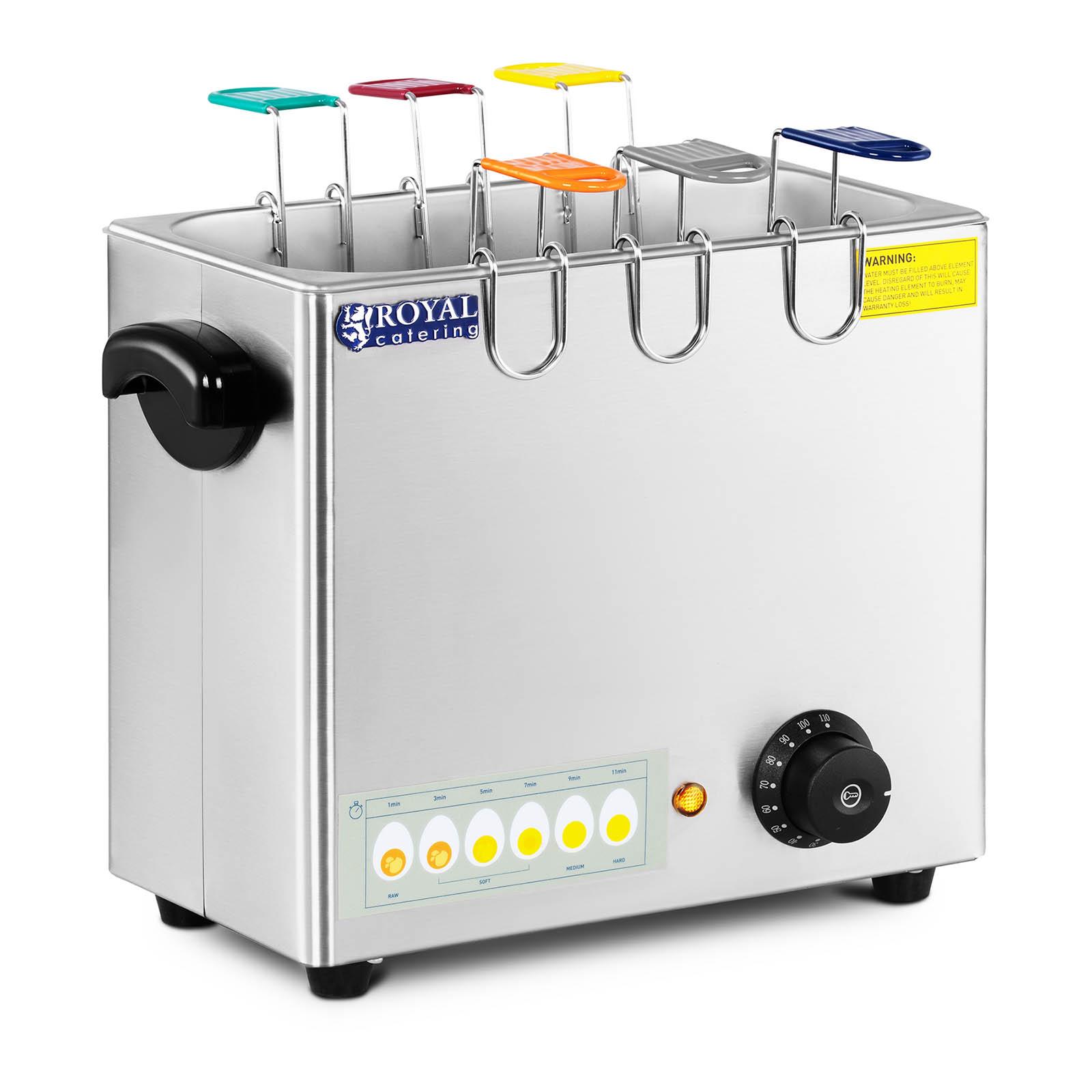 Gastro Eierkocher Elektrisch 6 Eier 2600 W 230 V 30-110 °C Edelstahl Profi Neu