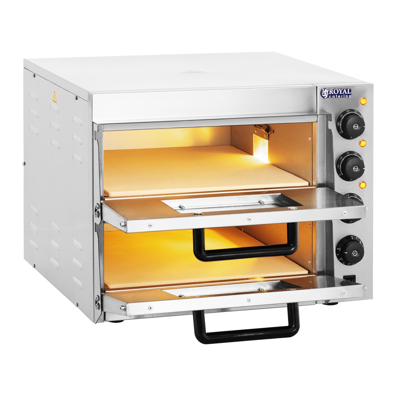Forno per pizza elettrico con pietra da casa professionale argilla chamotte 3 kw ebay - Pietra per forno elettrico ...