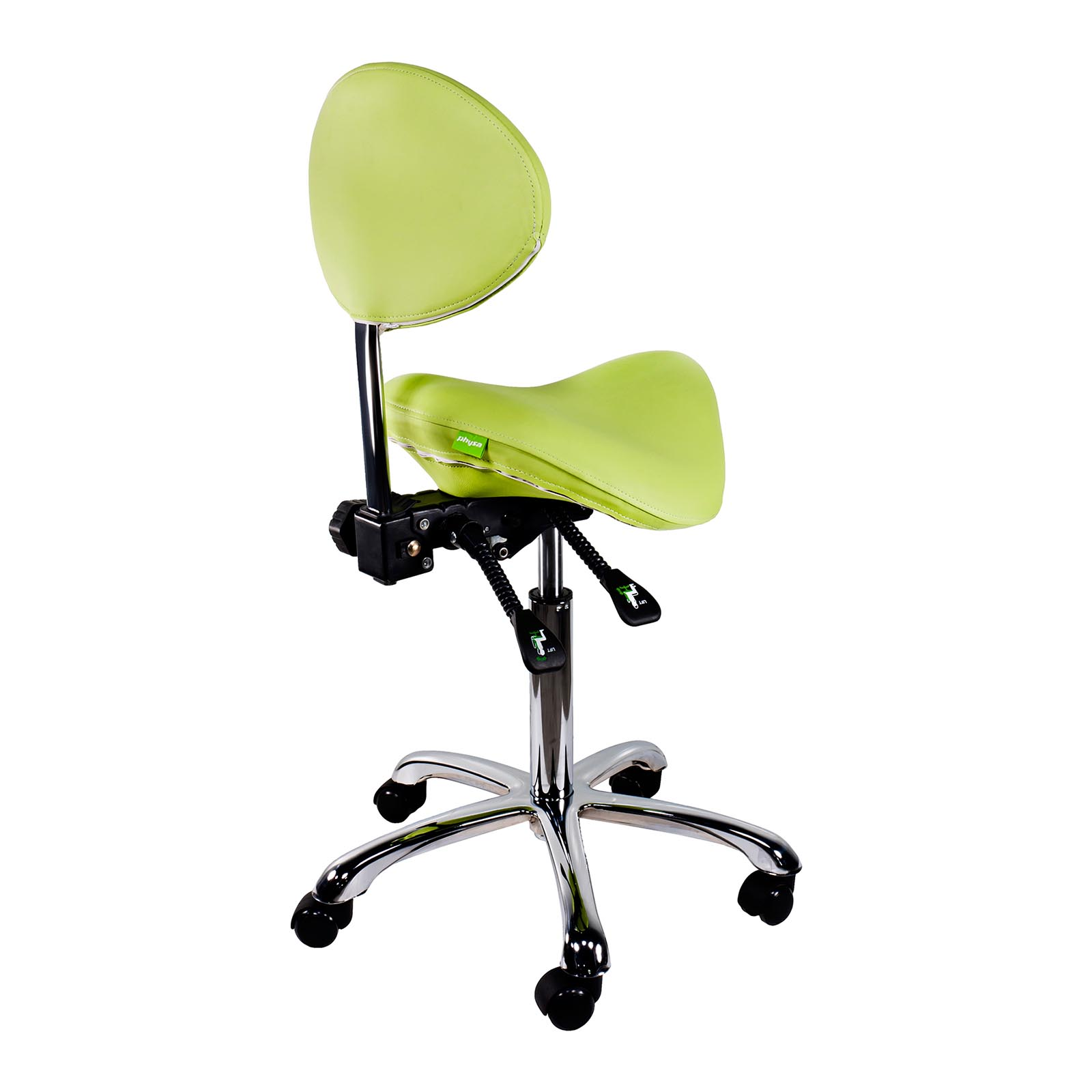 Salon Stool Saddle Chair With Backrest Adjustable Seat