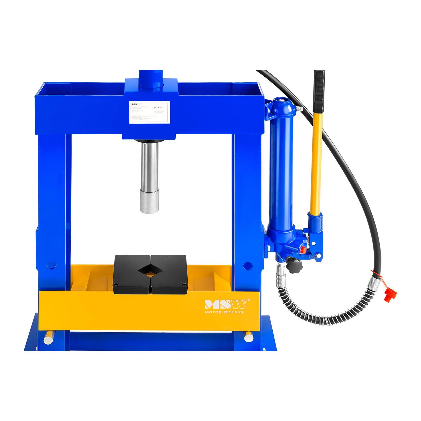 Pressa idraulica con manometro per officina 10 tonnellate for Pressa usata per officina