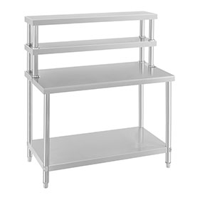 WORK TABLE STAINLESS STEEL WORK BENCH AND SHELVES PREP DESK AND - Stainless steel table with storage