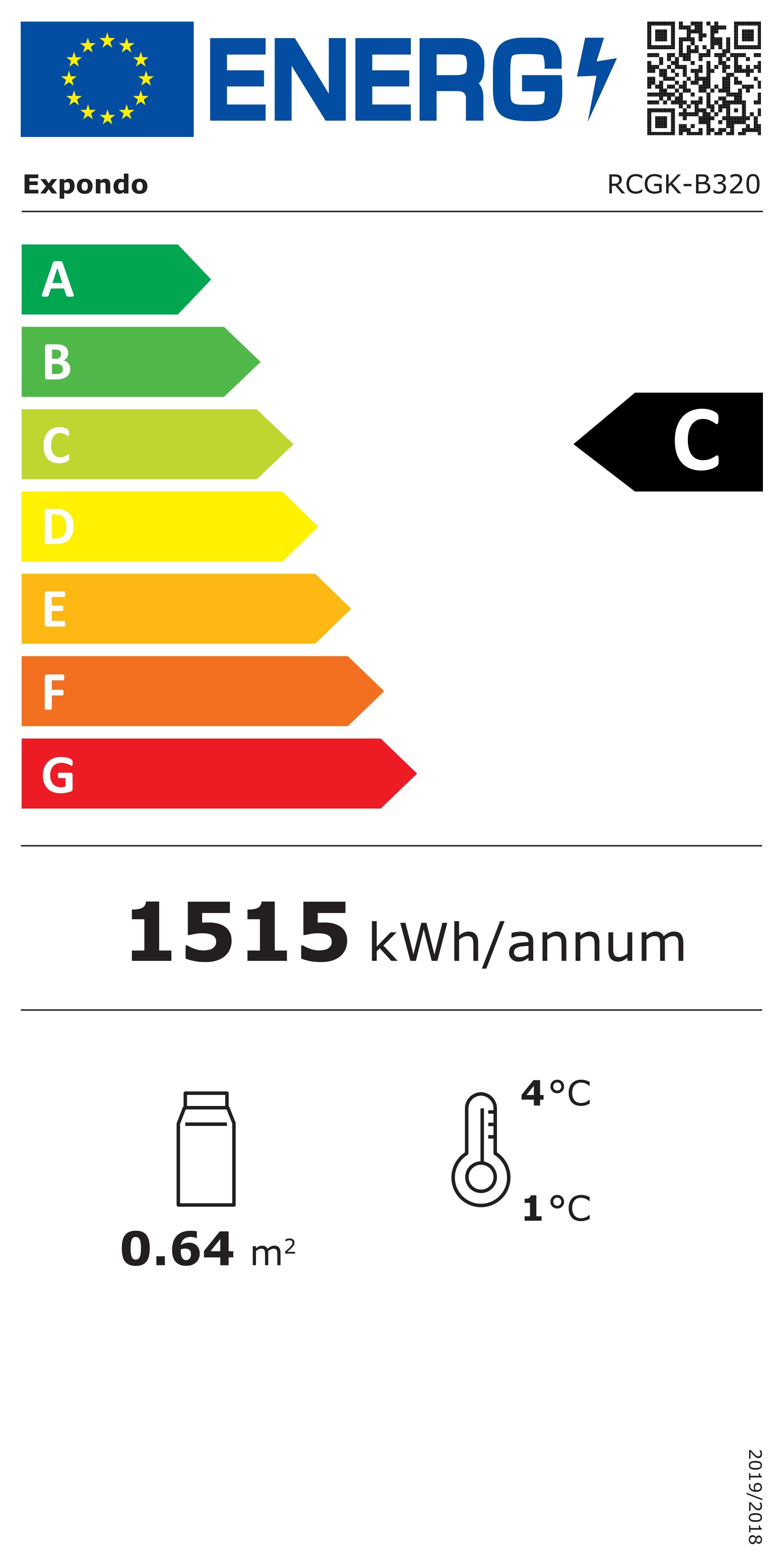 Vorschau: Flaschenkühlschrank - 320 L - LED - schwarzer Rahmen -