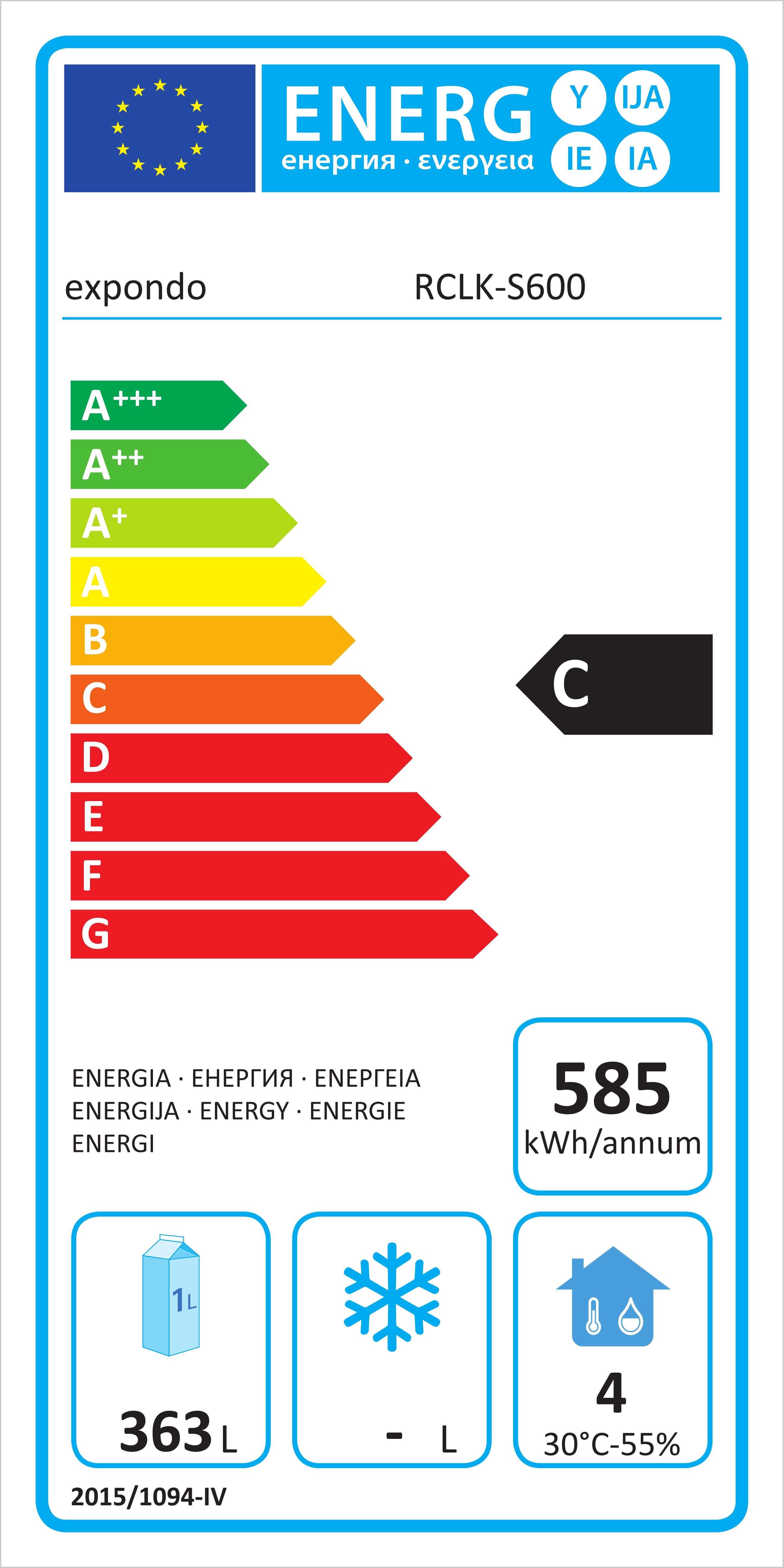 Anteprima: Amadio frigorifero professionale - 540 L - Acciaio inox -