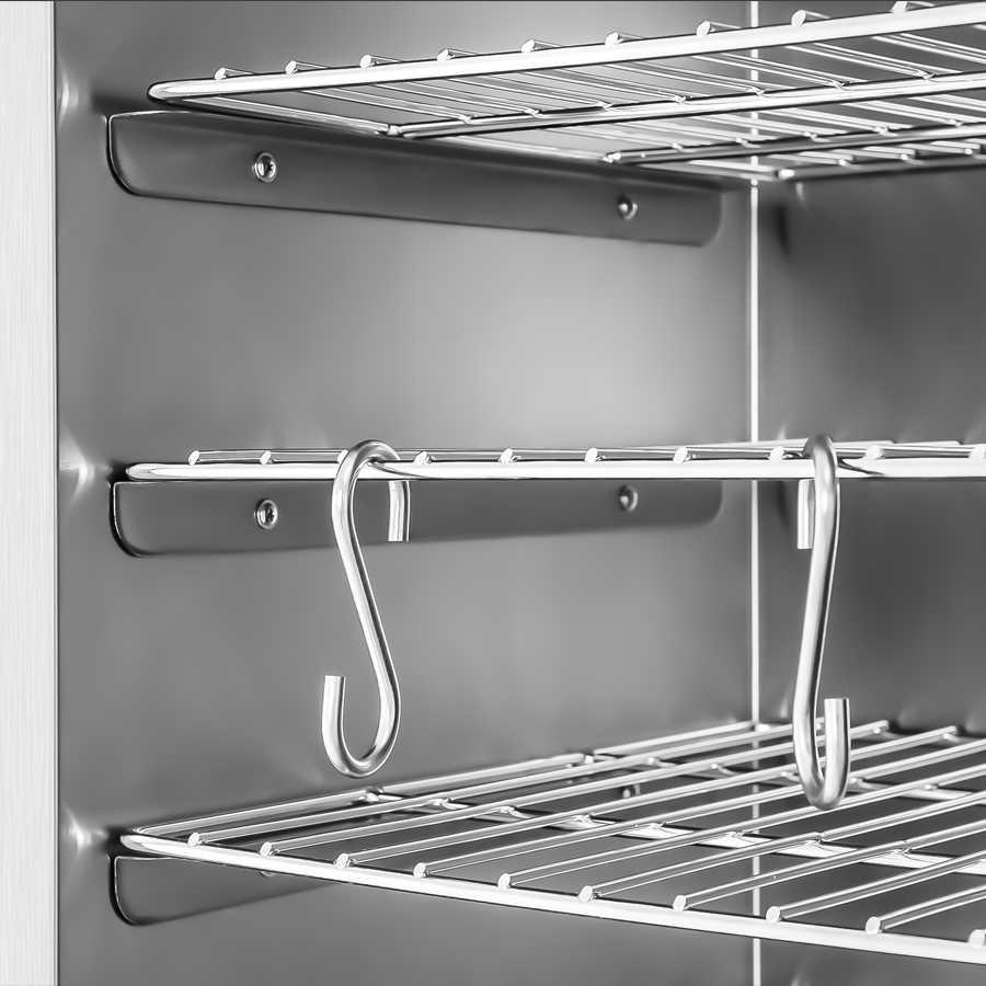 raeucherofen edelstahl smoker r ucherschrank fisch xxl 120cm hoch 147l 1000 watt ebay. Black Bedroom Furniture Sets. Home Design Ideas