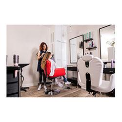 Sedia Da Barbiere Poltrona Per Parrucchieri Ecopelle Rosso ...